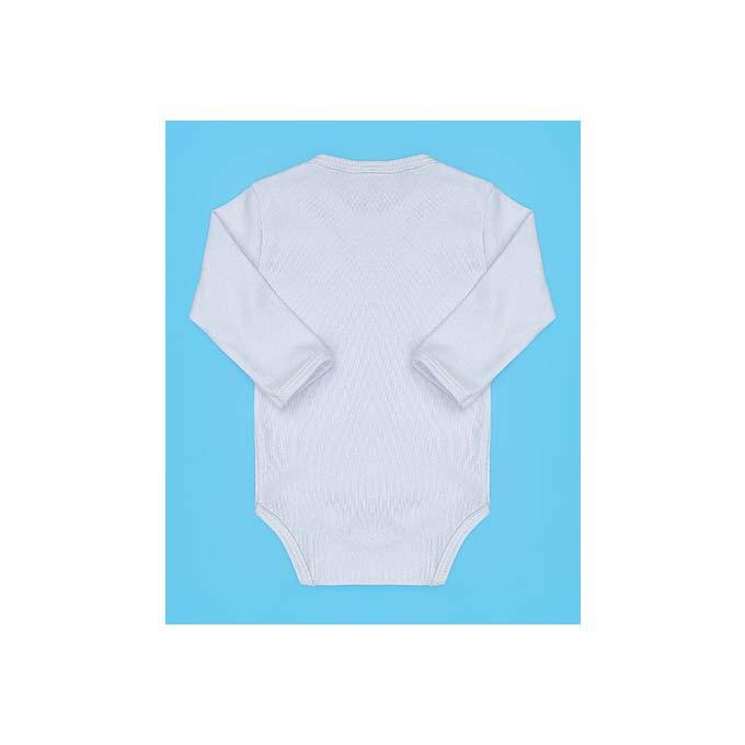 Body para Bebê Liso Tecido Malha - Branco - RN