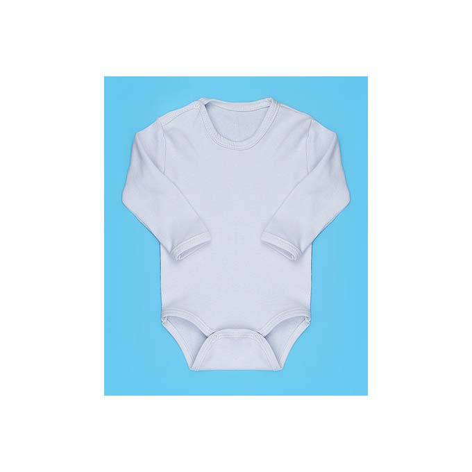 Body para Bebê Liso Tecido Malha - Branco - P