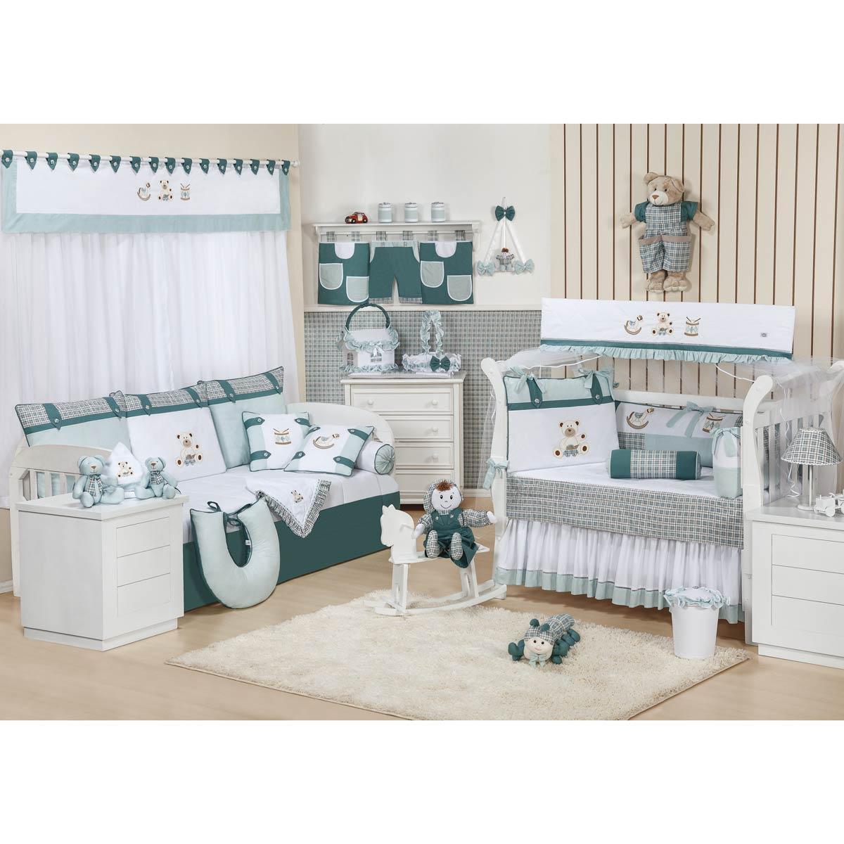 Cortina p/ Quarto de Bebê 2 Metros - Coleção Brinquedos Baby