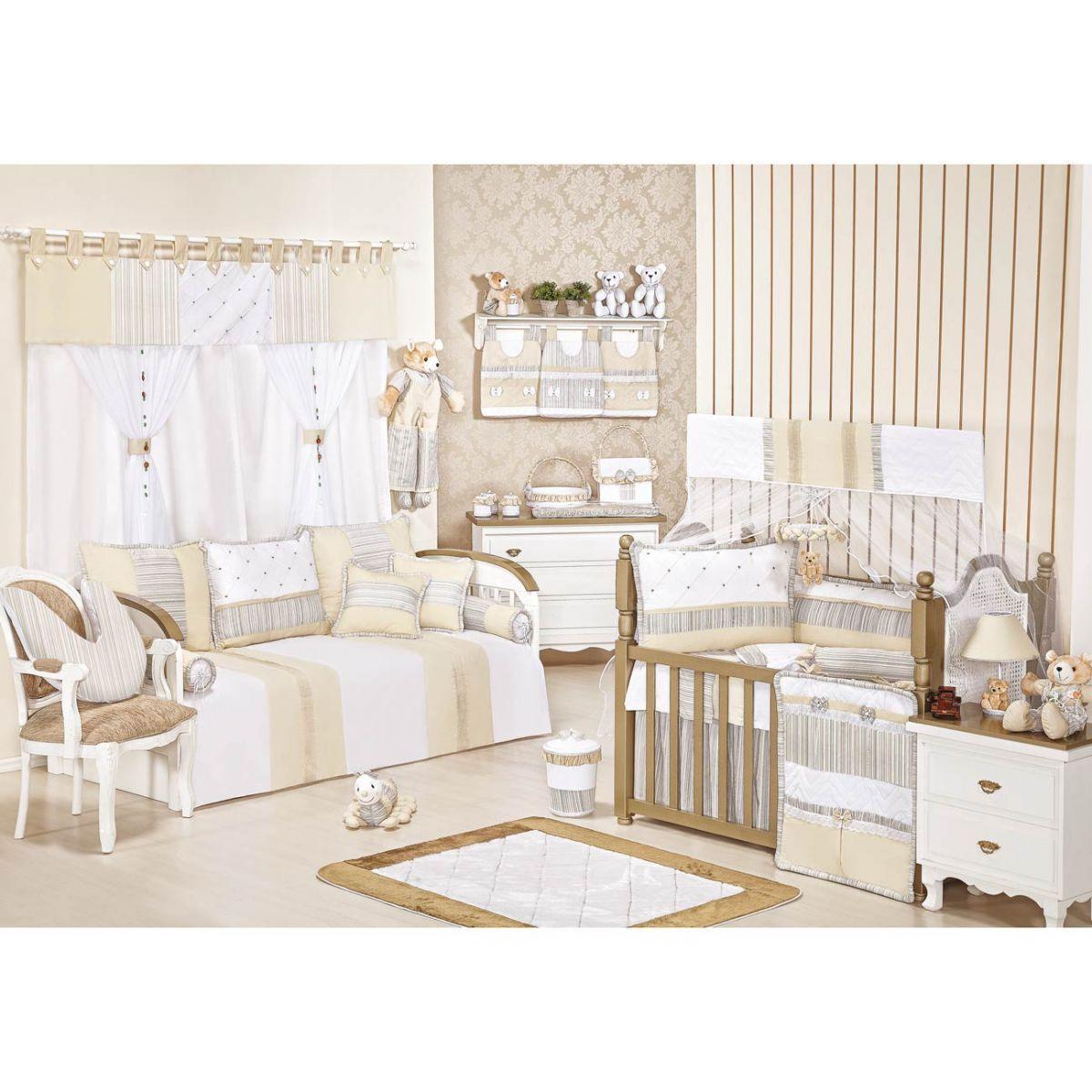 Porta Objetos para Berço de Bebê - Coleção Capricho