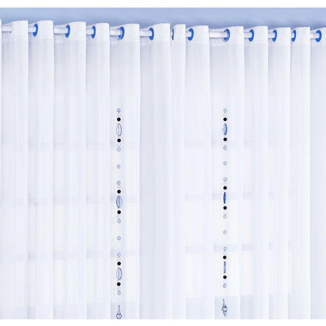 Cortina p/ Quarto de Bebê 2 Metros - Coleção Classic Azul