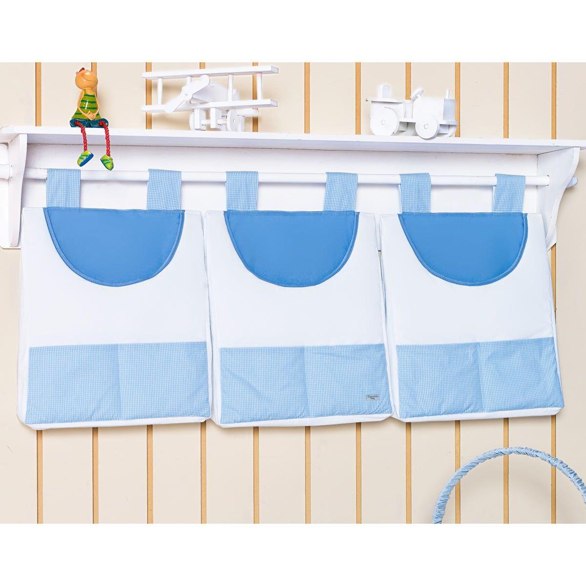 Porta Fraldas de Varão - Coleção Classic Azul