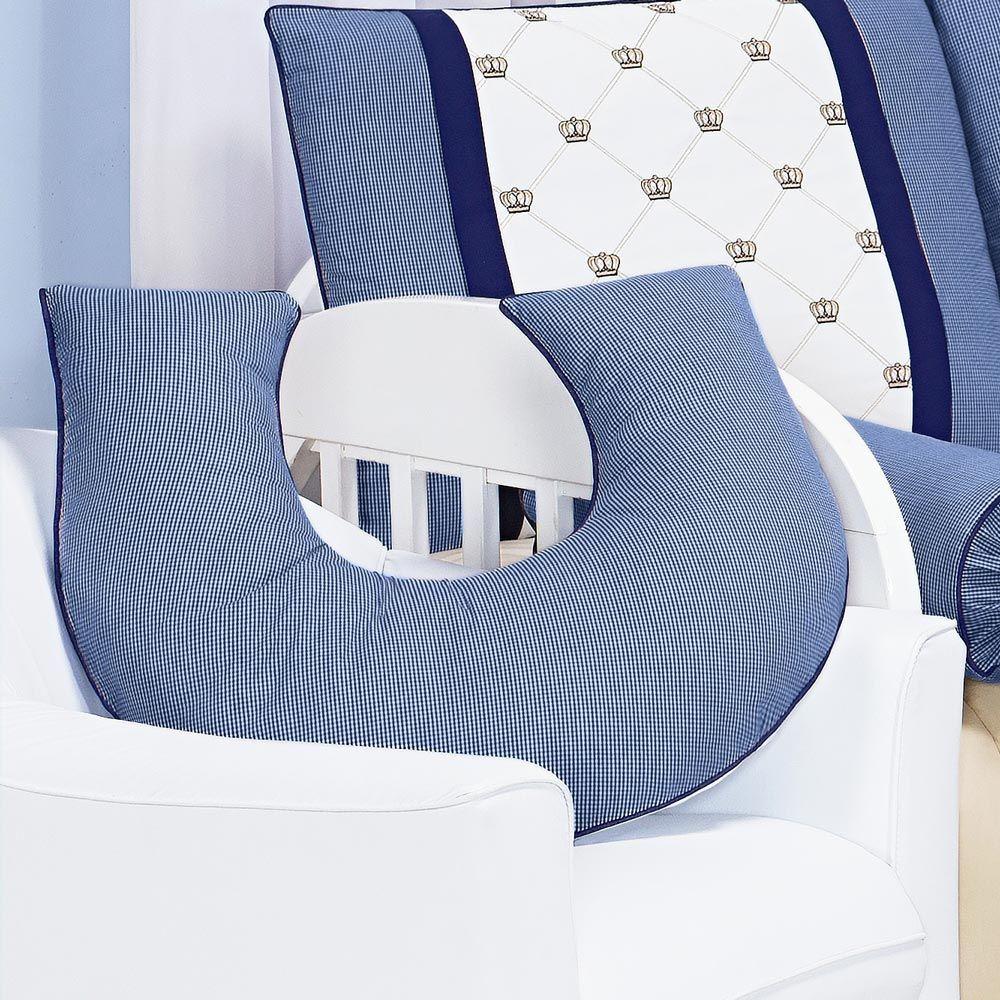 Apoio para Amamentar Bebê - Coleção Classic Marinho