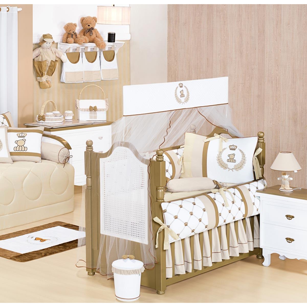 Coleção Completa para Quarto de Bebê Classic Palha - 25 Peças