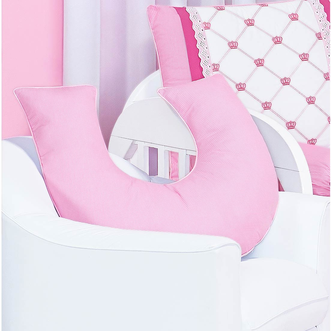 Coleção Completa para Quarto de Bebê Classic Rosa - 24 Peças