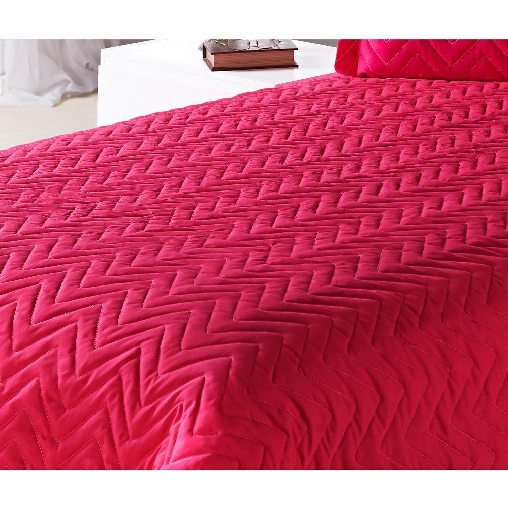 Cobre Leito Casal Padrão Clean Avulso 01 Peça Poliéster - Pink
