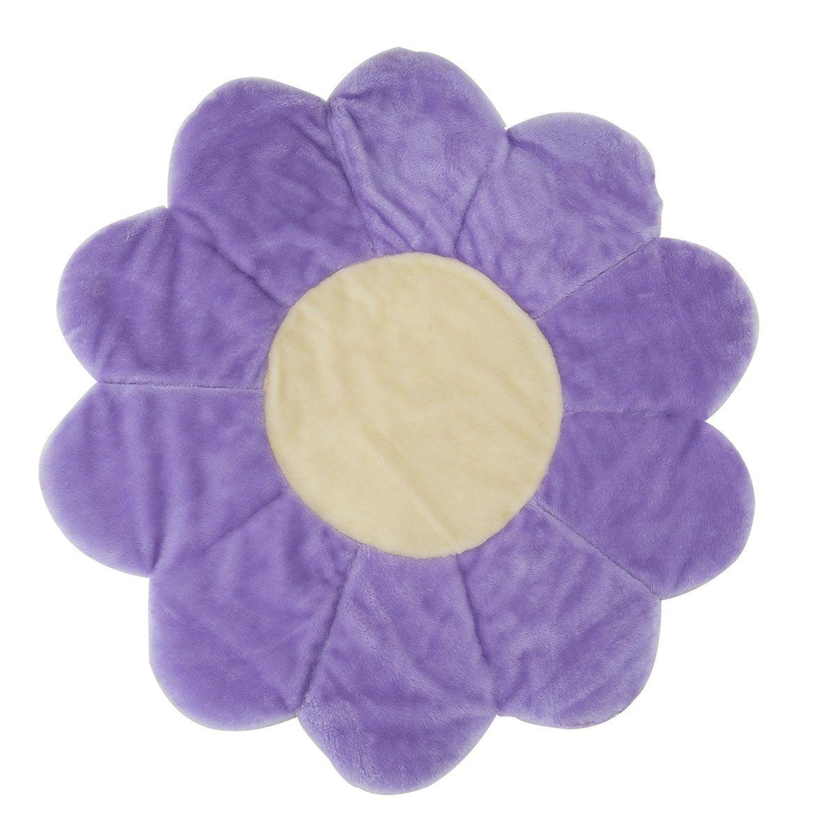 Tapete para Quarto de Bebê Flor 1,10m x 1,10 Lilás - Antialérgico