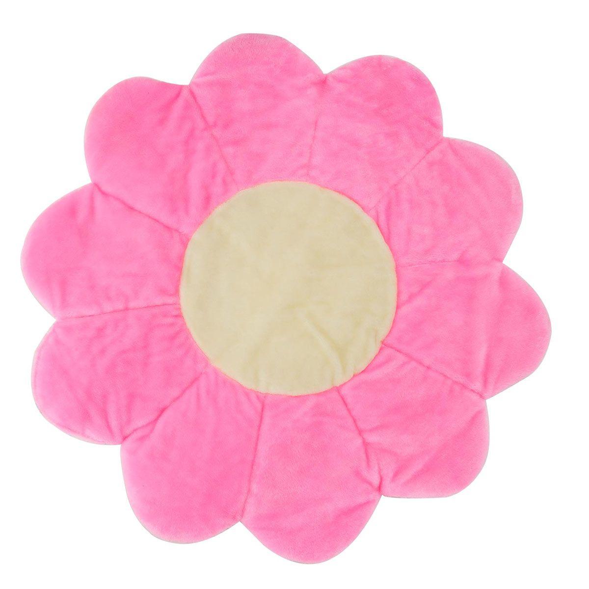 Tapete para Quarto de Bebê Flor 1,10m x 1,10 Rosa - Antialérgico