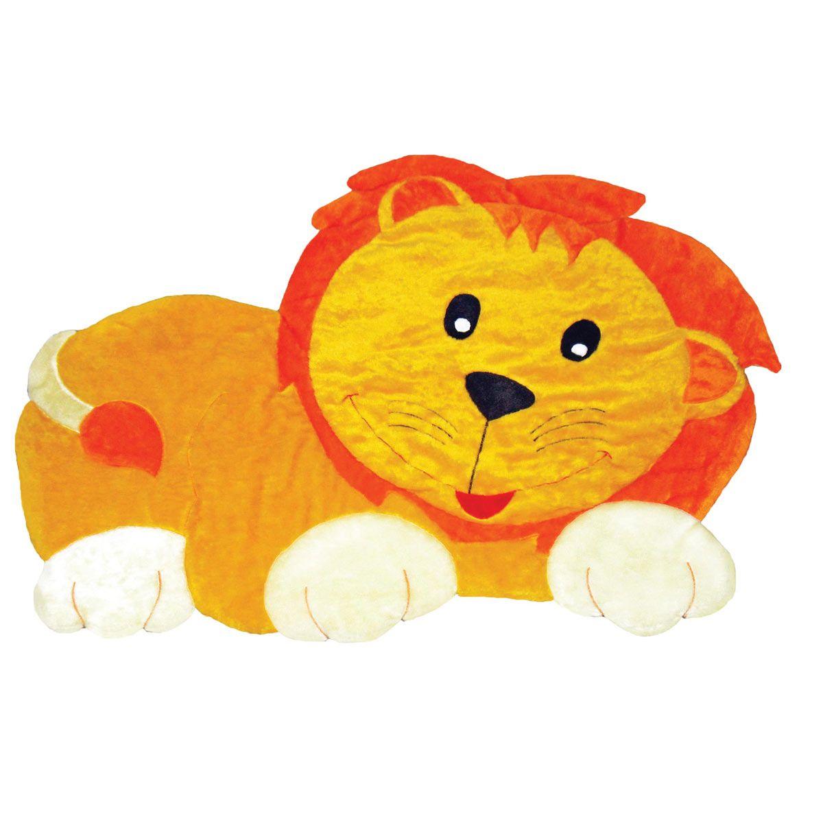 Tapete para Quarto de Bebê Leão 1,30m x 1,10m Amarelo - Antialérgico