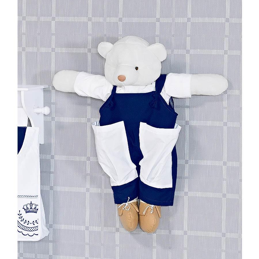 Porta Fraldas Urso - Coleção Elegance Marinho