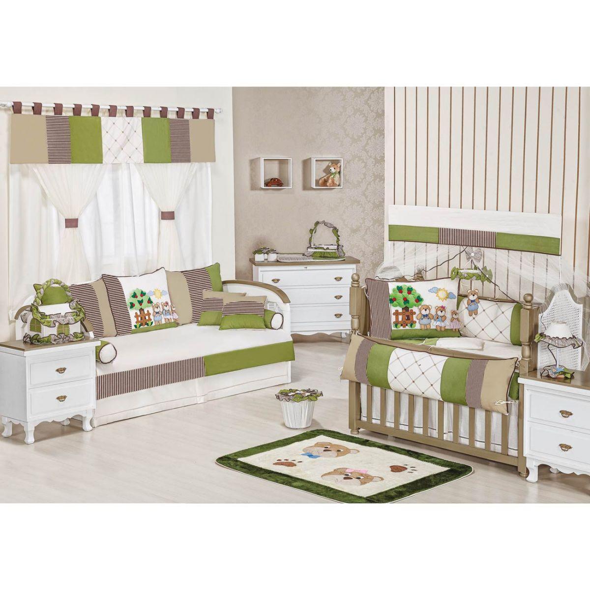 Lixeira Enfeitada p/ Quarto de Bebê - Coleção Familia Urso