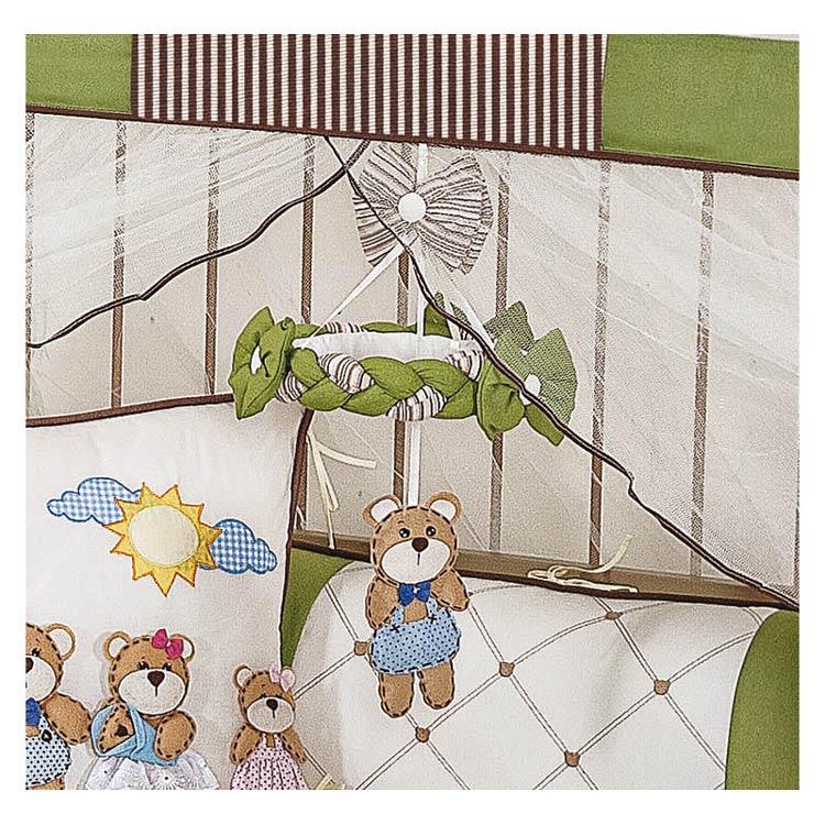 Coleção Completa para Quarto de Bebê Familia Urso 100% Algodão - 18 Peças