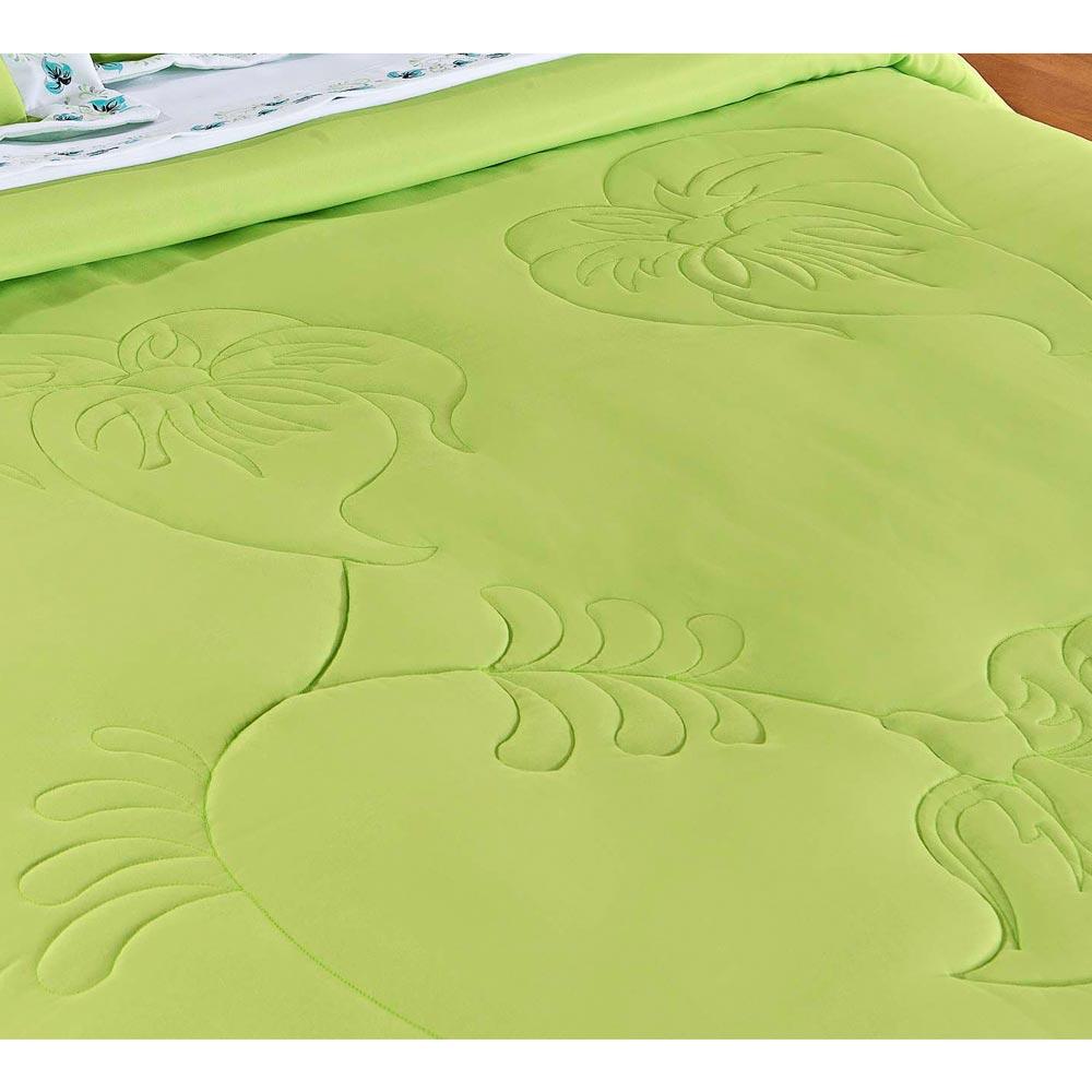 Coordenado Casal Queen Fiore 09 Peças com Jogo de Lençol - Verde