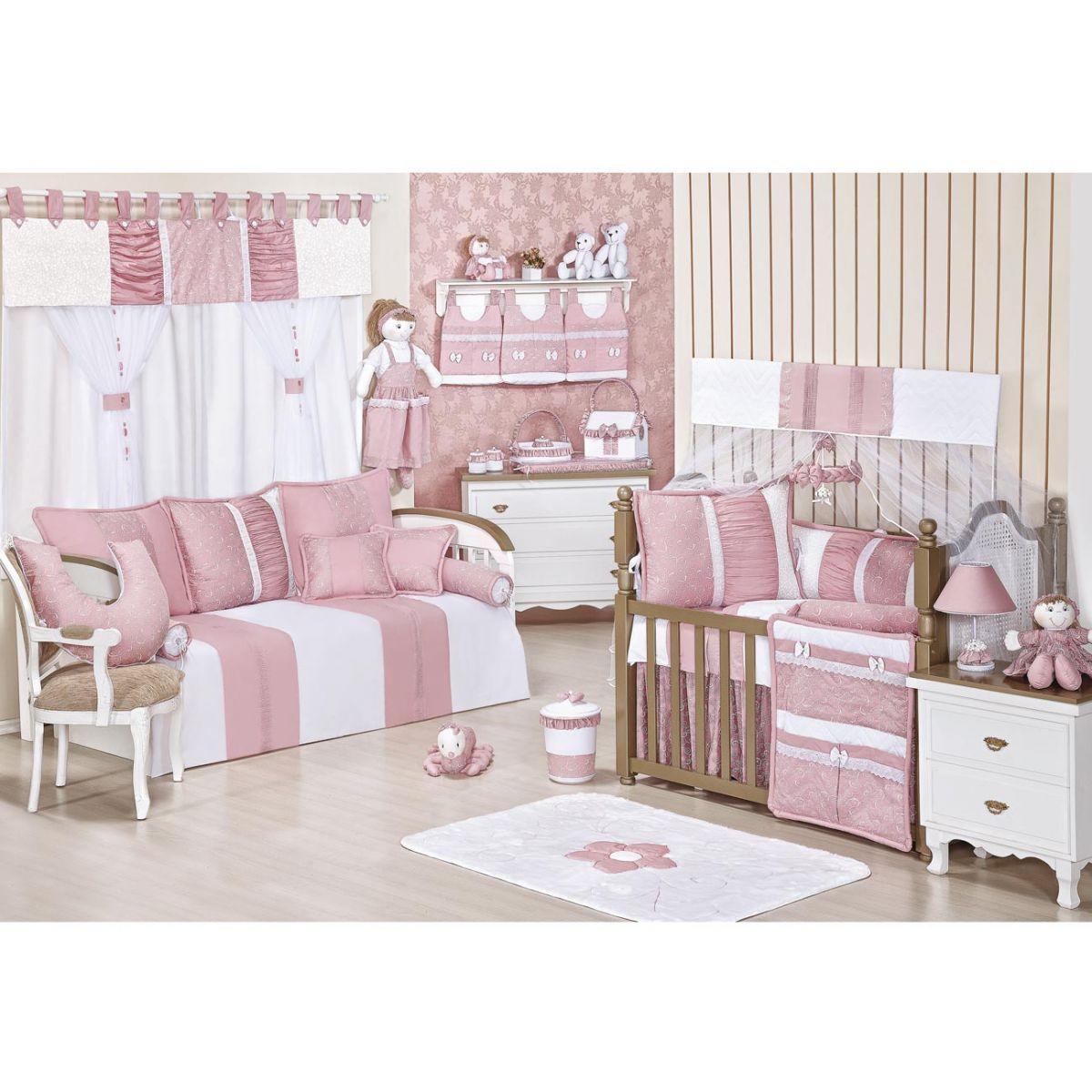 Porta Objetos para Berço de Bebê - Coleção Flor de Liz
