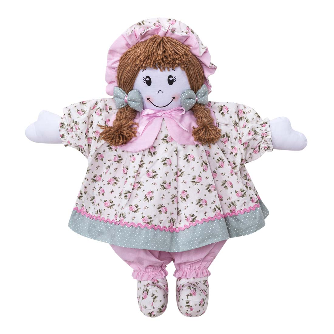 Boneca decorativa para Quarto Bebê Coleção Baby Florence - Rosa