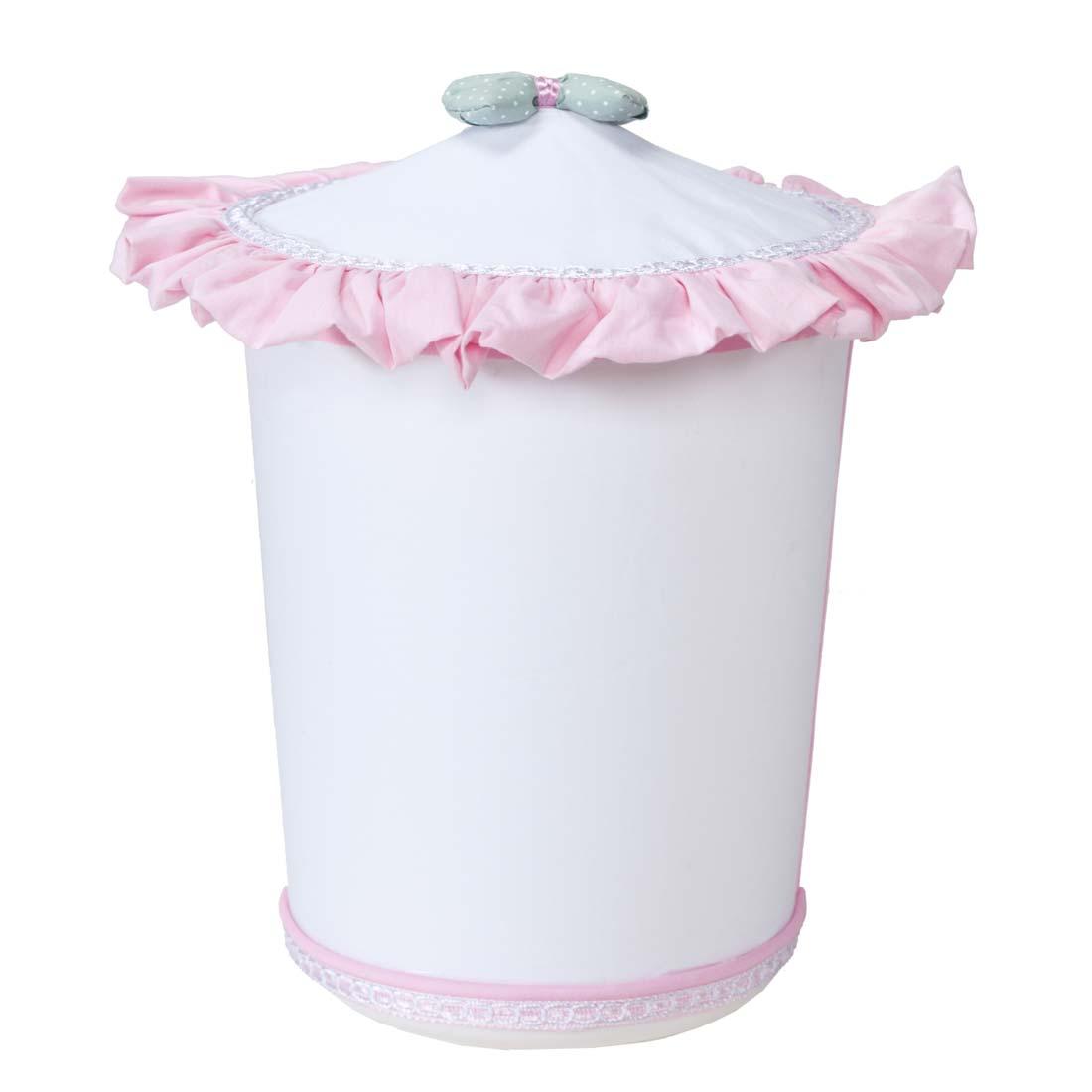 Lixeira Enfeitada para Quarto de Bebê Coleção Baby Florence - Rosa