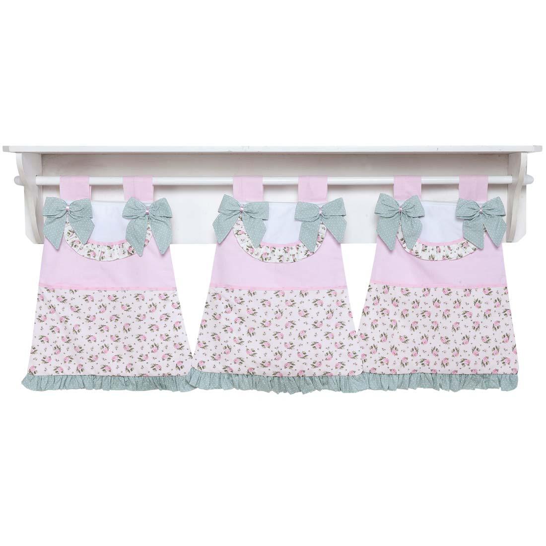 Coleção Completa para Quarto de Bebê Baby Florence Rosa - 33 Peças