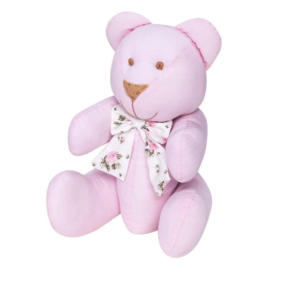 Enfeite Decorativo Urso P Coleção Baby Florence 25cm - Rosa