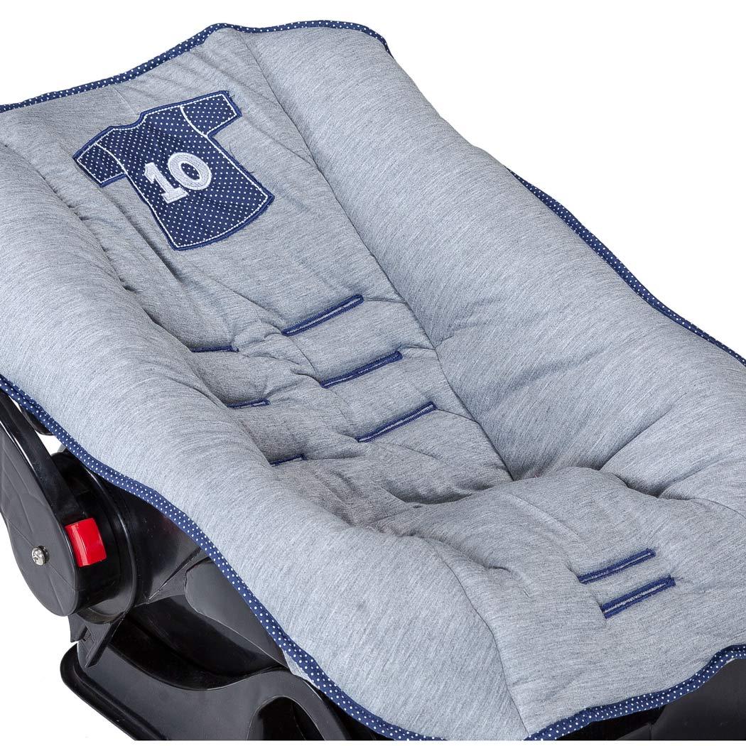 Capa de Bebê Conforto de Bebê Coleção Futebol - Azul