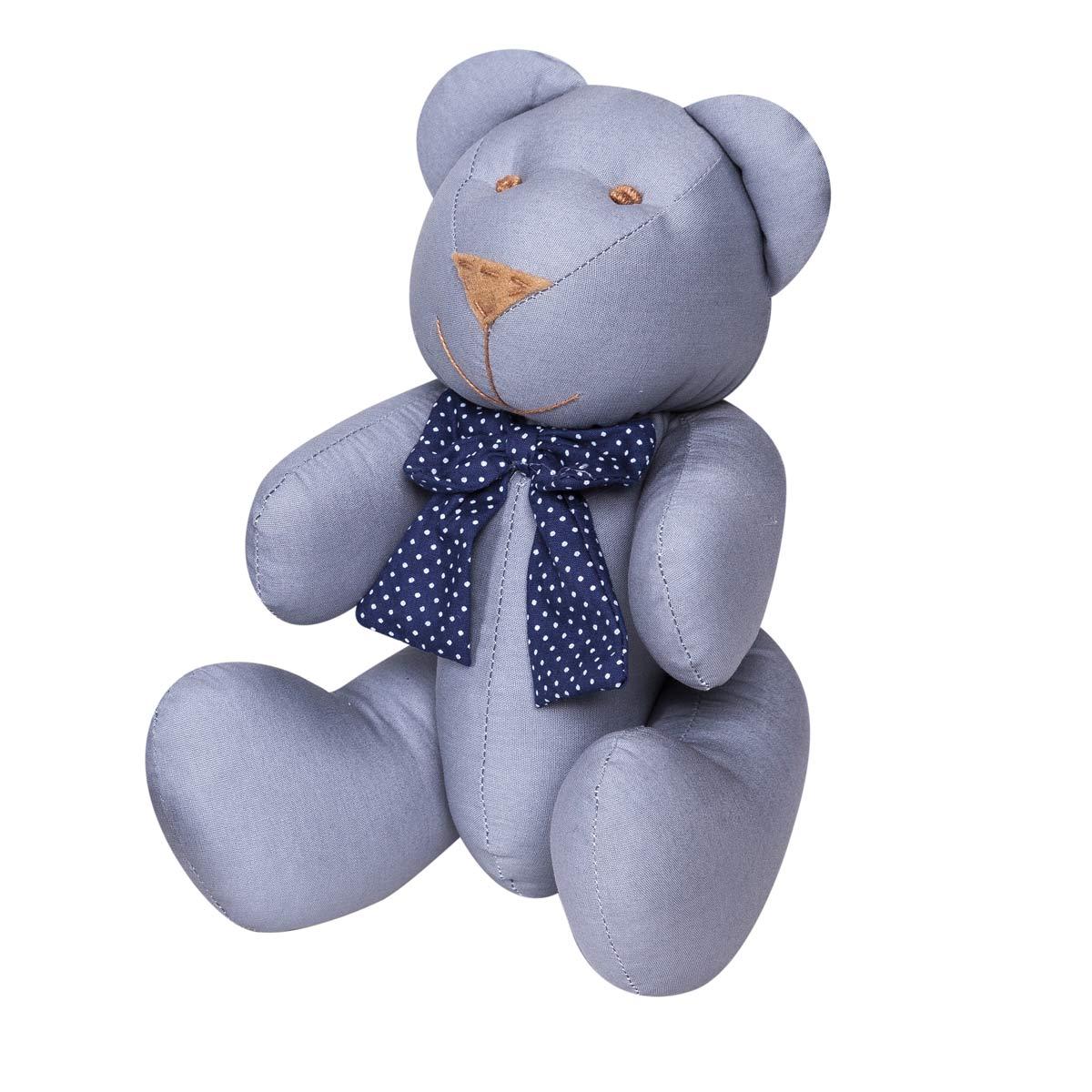 Enfeite Decorativo Urso G Coleção Futebol Azul  - 30cm