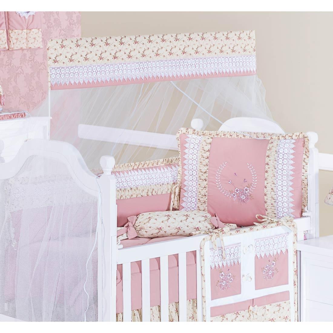 Coleção Completa para Quarto de Bebê kate 100% Algodão - 24 Peças