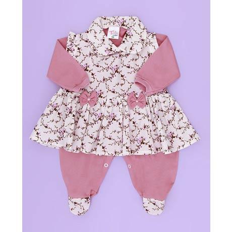 Saida Maternidade Estampado Rosê - Tecido Malha - Rosê - P