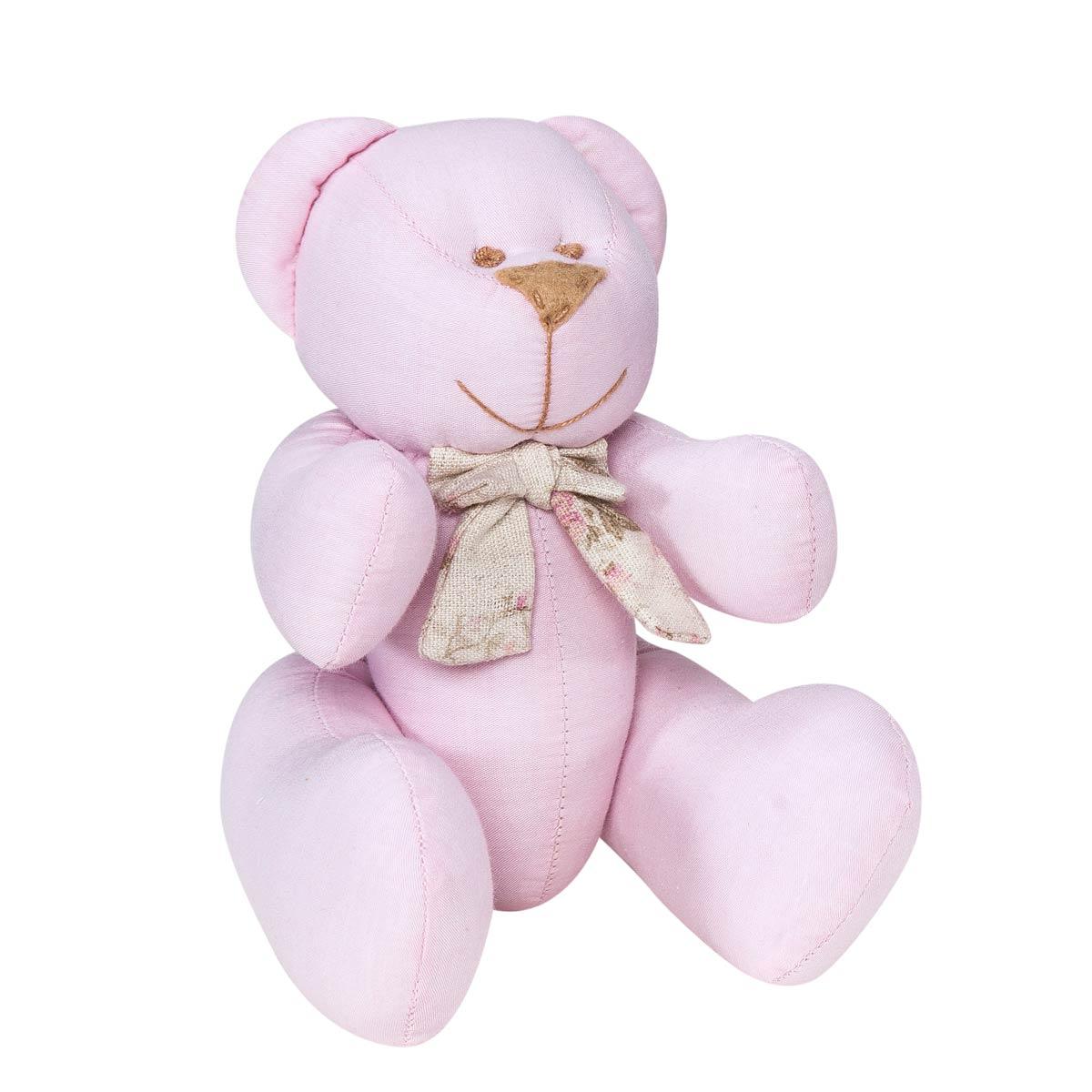 Enfeite Decorativo Urso P Coleção Lacinhos Baby 25cm - Rosa