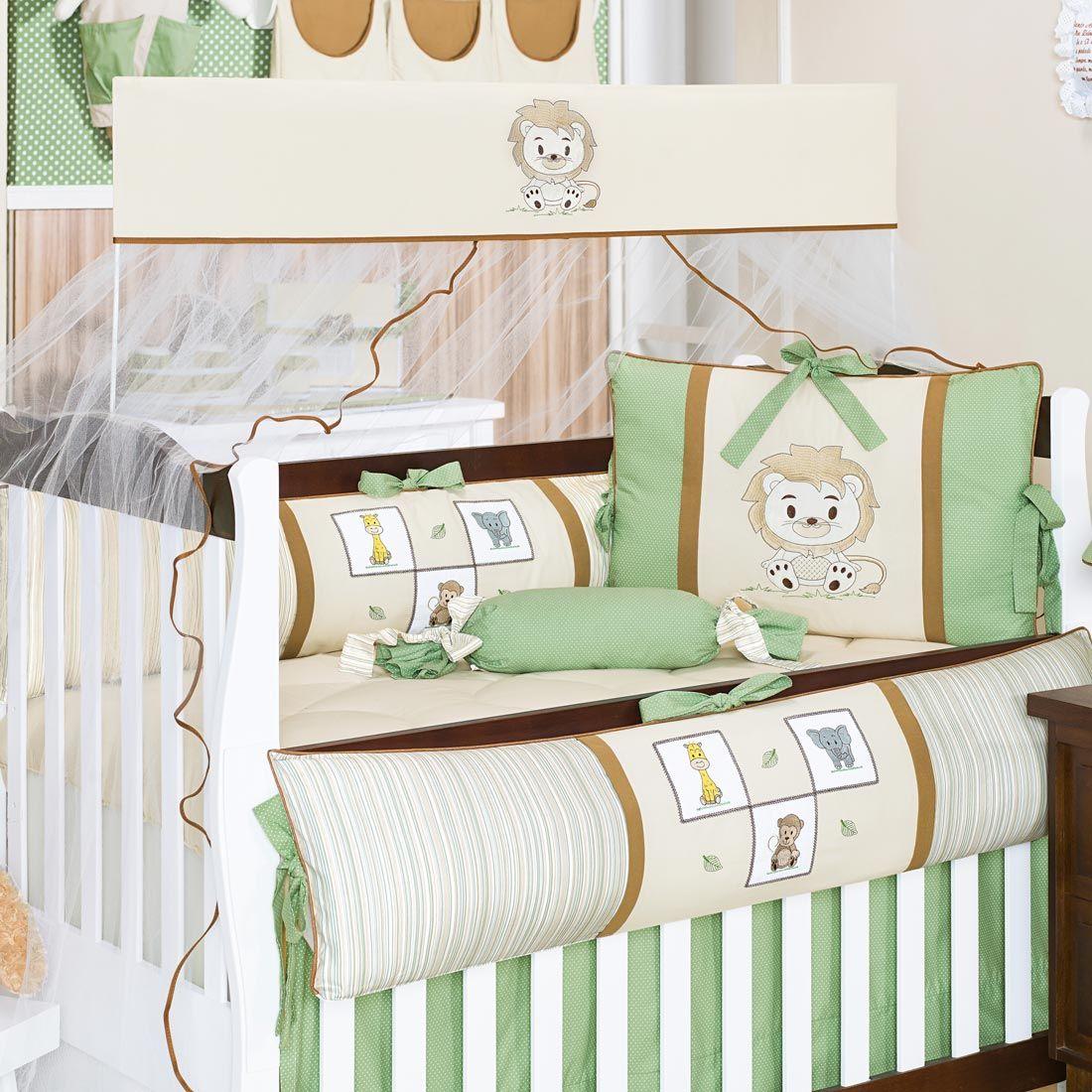 Coleção Completa para Quarto de Bebê Leãozinho Baby - 25 Peças