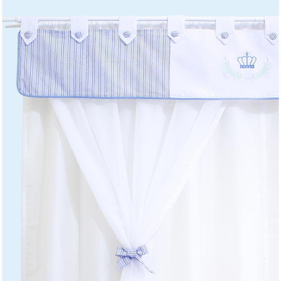Cortina p/ Quarto de Bebê 2 Metros - Coleção My Prince - Azul