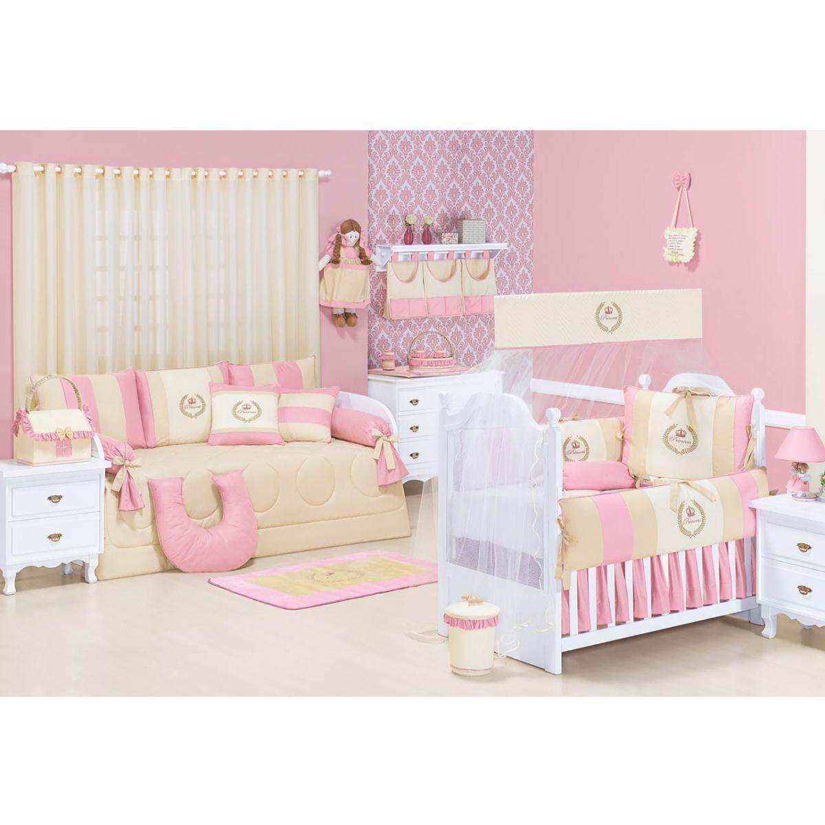 Lixeira Enfeitada p/ Quarto de Bebê - Coleção My Princess Rose
