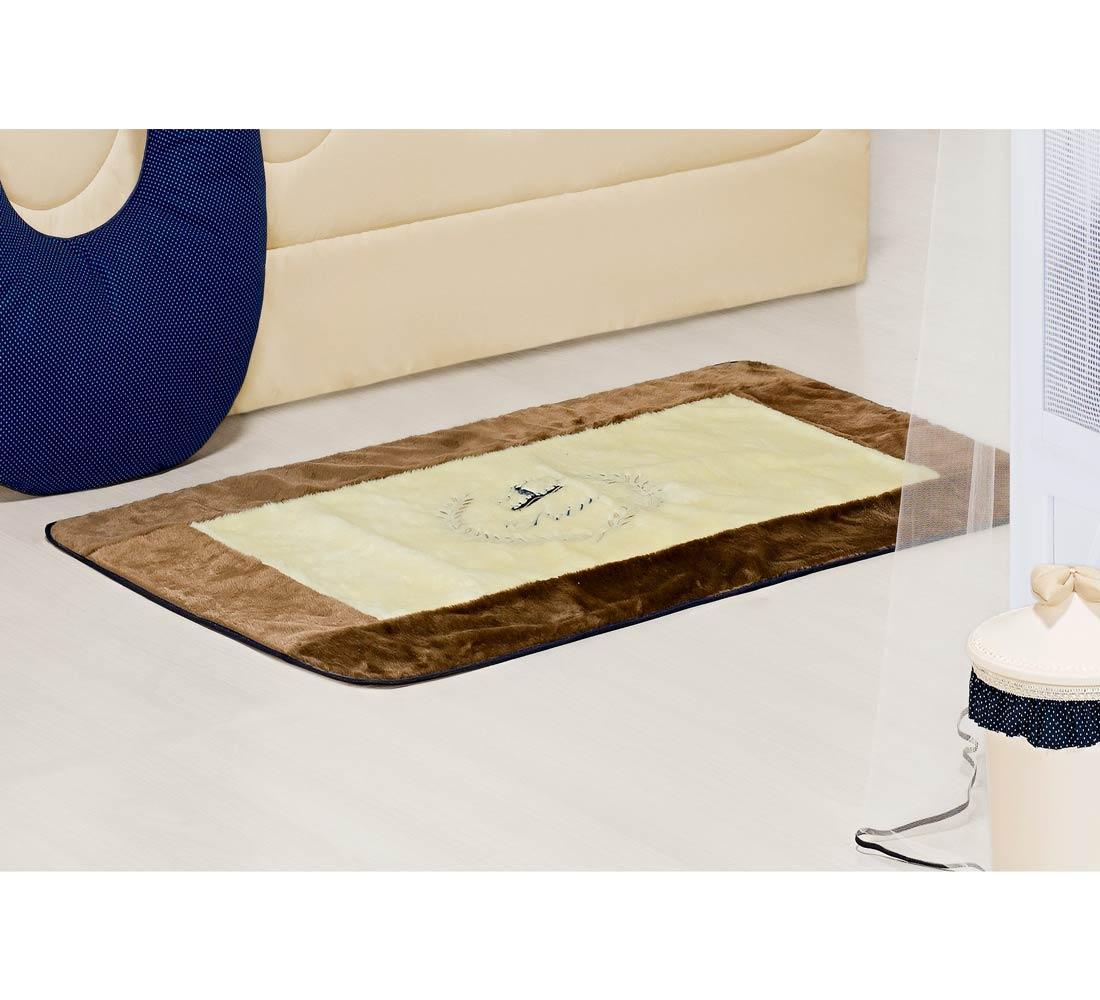 Tapete Pelúcia Antiderrapante - Coleção My Prince Marinho 1,25m x 76cm