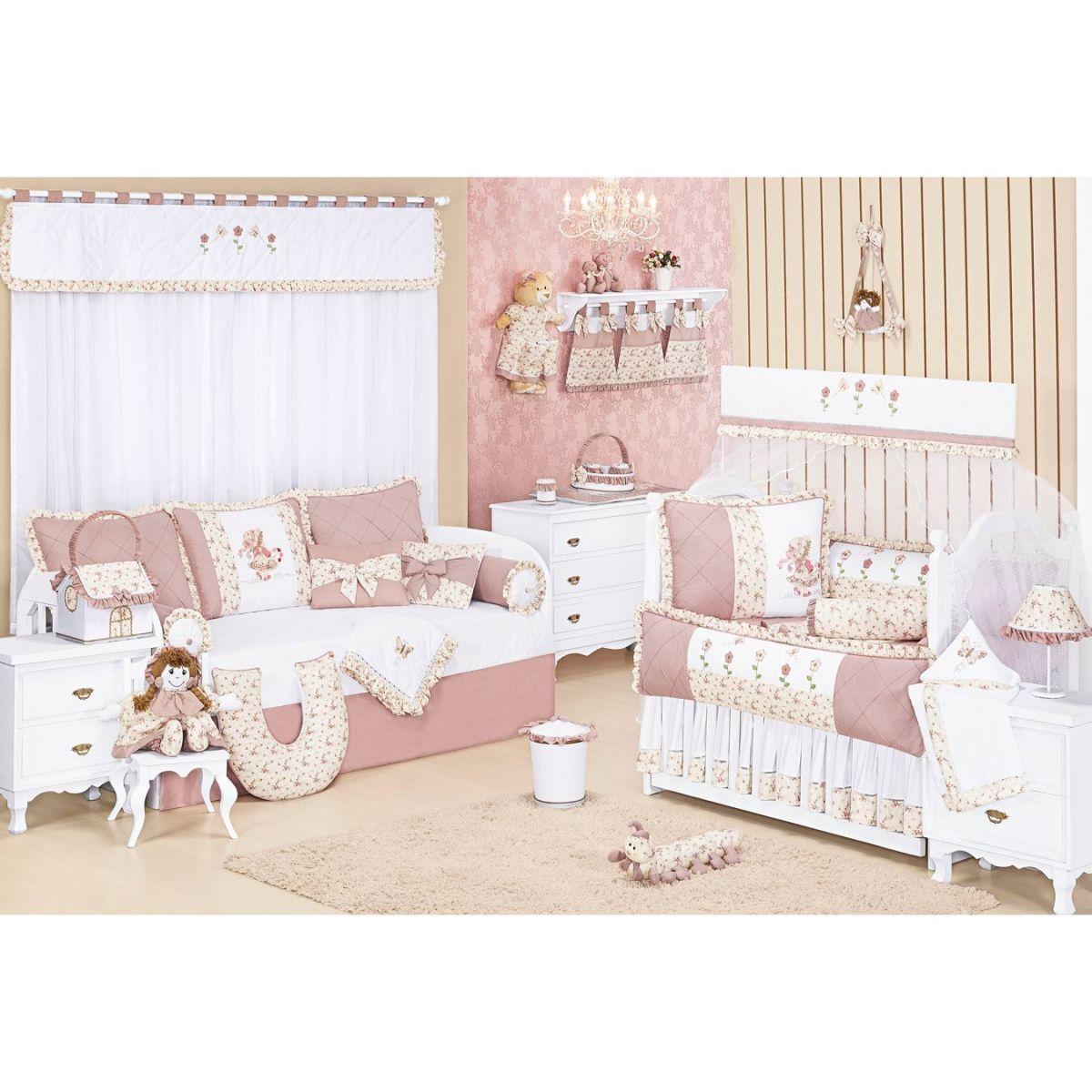 Centopéia decorativa para Quarto Bebê - Coleção Nina Camponesa