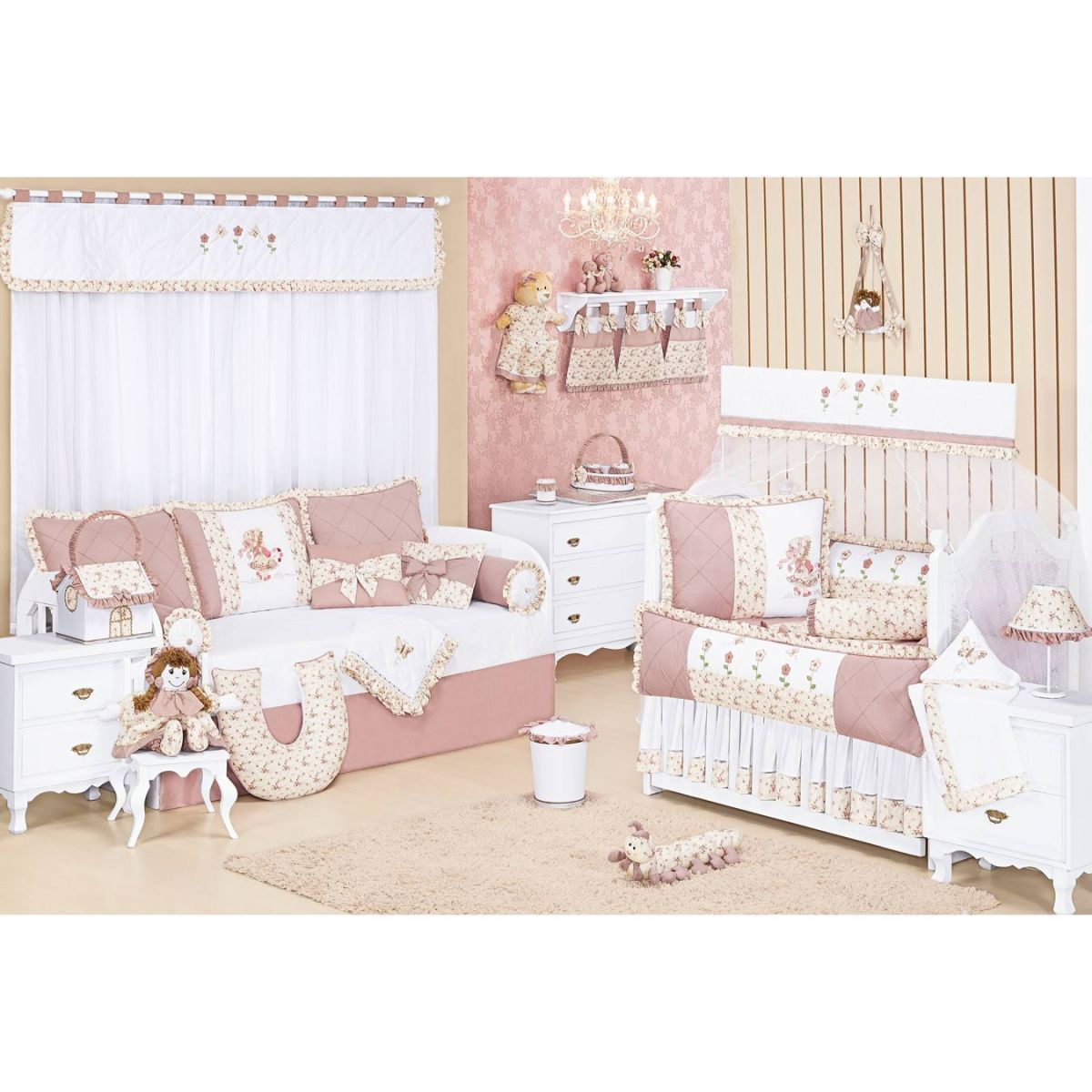 Manta Avulso para Quarto de Bebê - Coleção Nina Camponesa