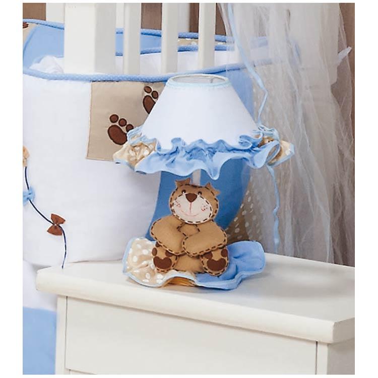 Abajur Enfeitado - Coleção Papai Urso Baby