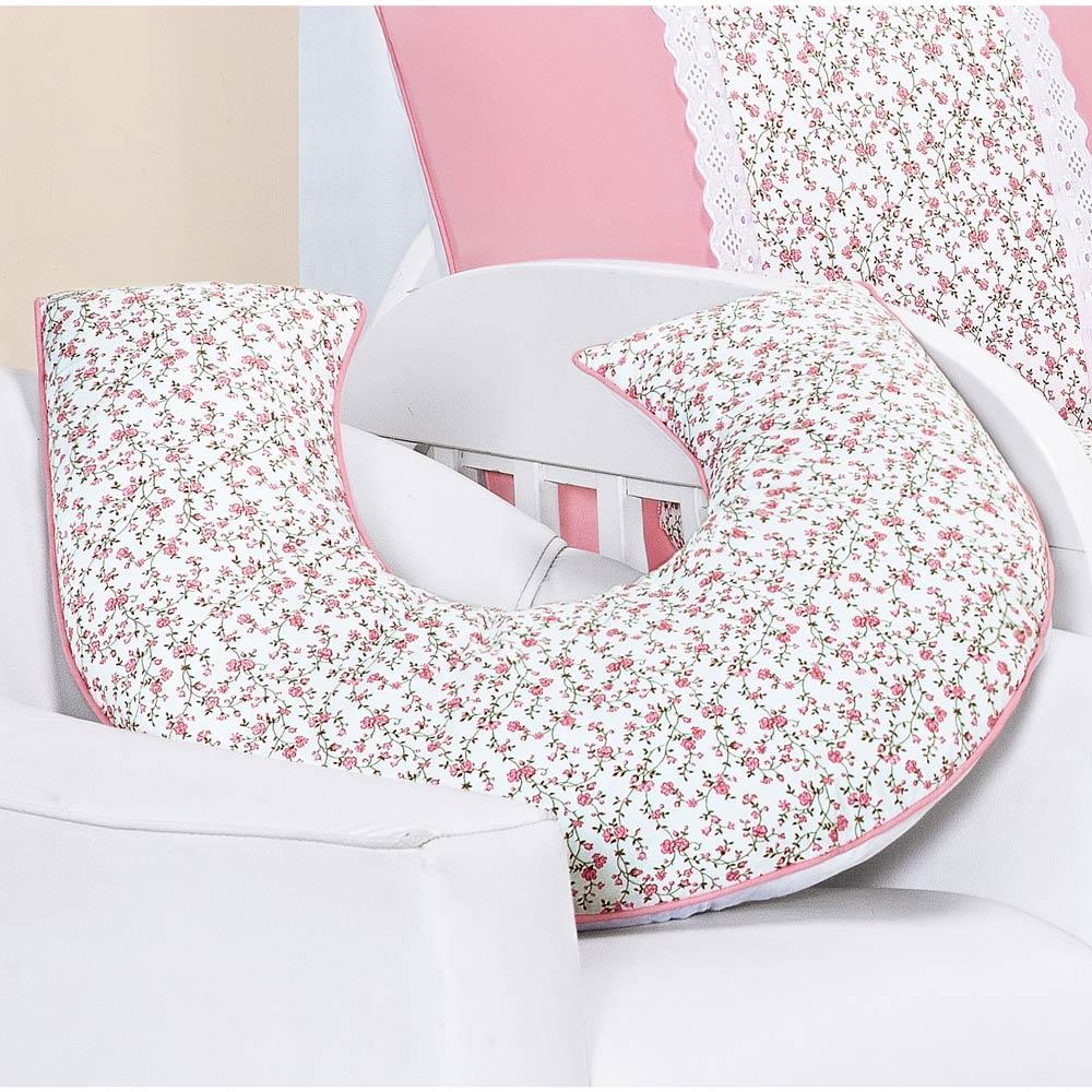 Apoio para Amamentar Bebê - Coleção Princesinha Baby Rosa