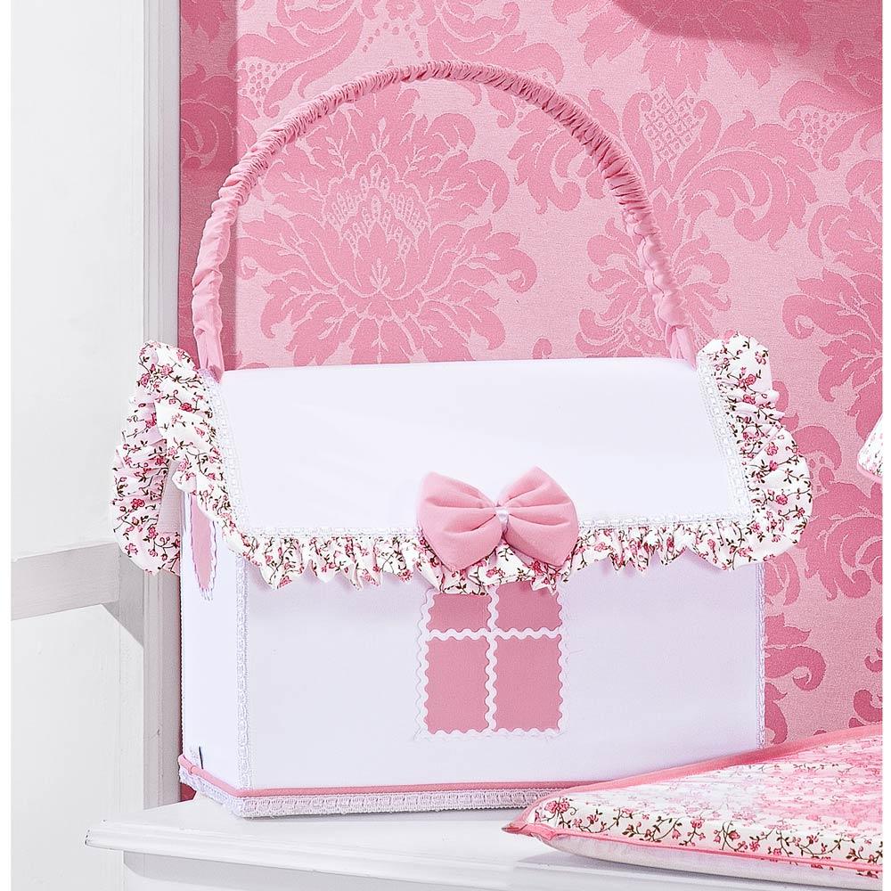 Farmacinha Enfeitada p/ Quarto de Bebê - Coleção Princesinha Baby Rosa