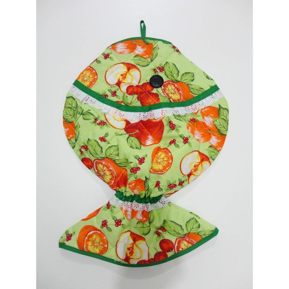 Puxa Saco Decorado Peixe - Maçã Verde