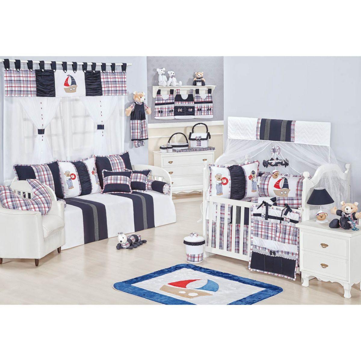 Lixeira Enfeitada p/ Quarto de Bebê - Coleção Sailor