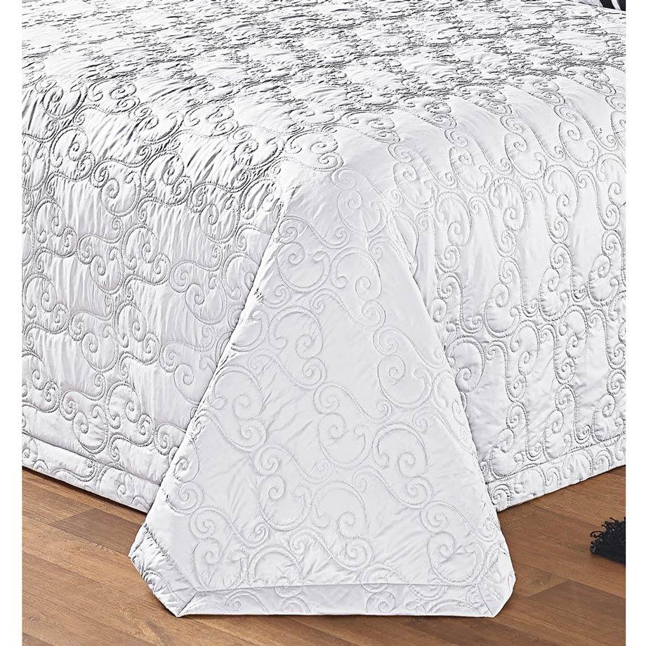 Cobre Leito Casal Queen Urban 05 Peças sendo 04 Porta Travesseiros - Branco