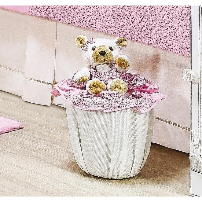 Lixeira Enfeitada - Coleção Ursa Baby