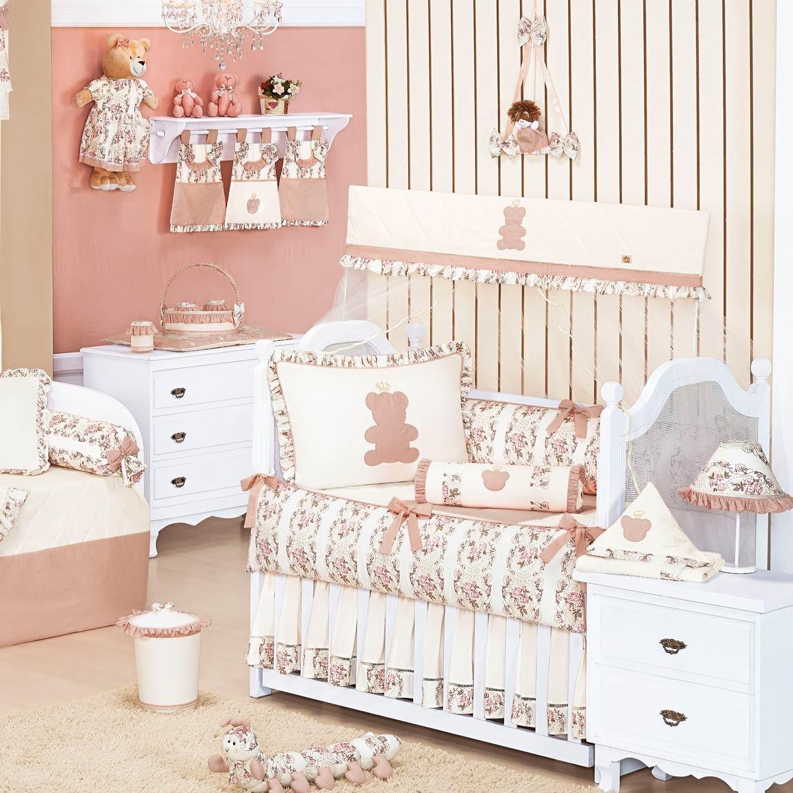 Coleção Completa para Quarto de Bebê Ursa Naná - 32 Peças