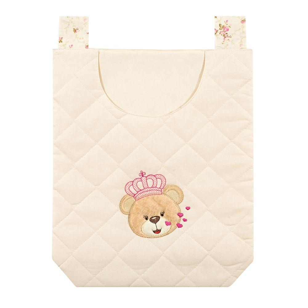 Porta Objetos de Varal para Bebê Coleção Ursa Imperial - Rosa