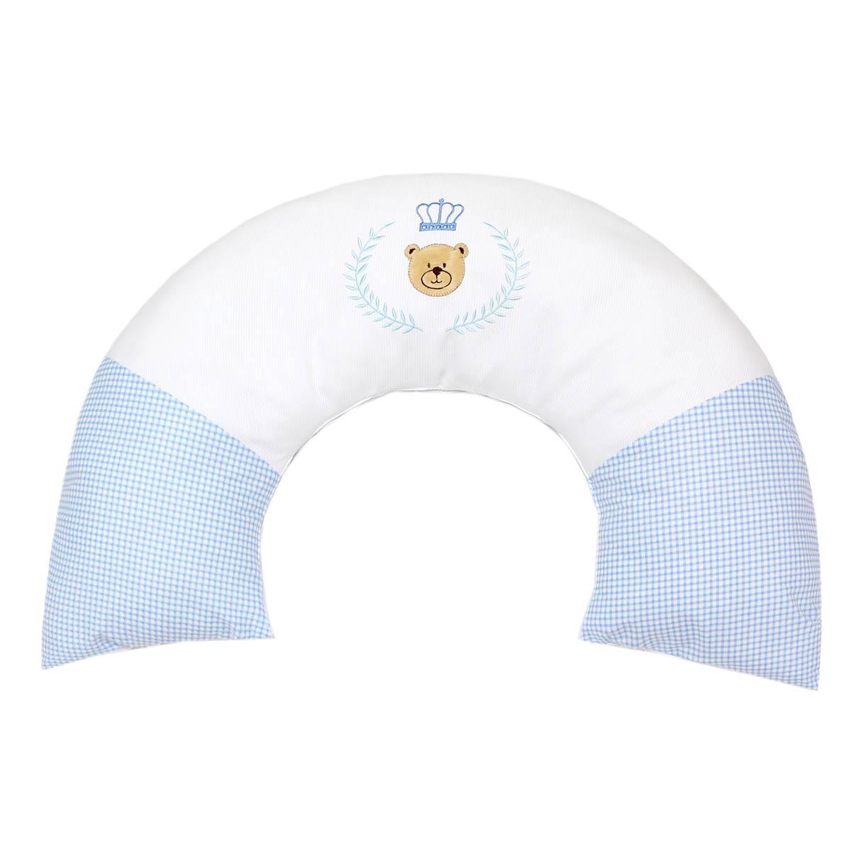 Almofada Amamentação - Coleção Urso Majestade - 100% Algodão - Azul