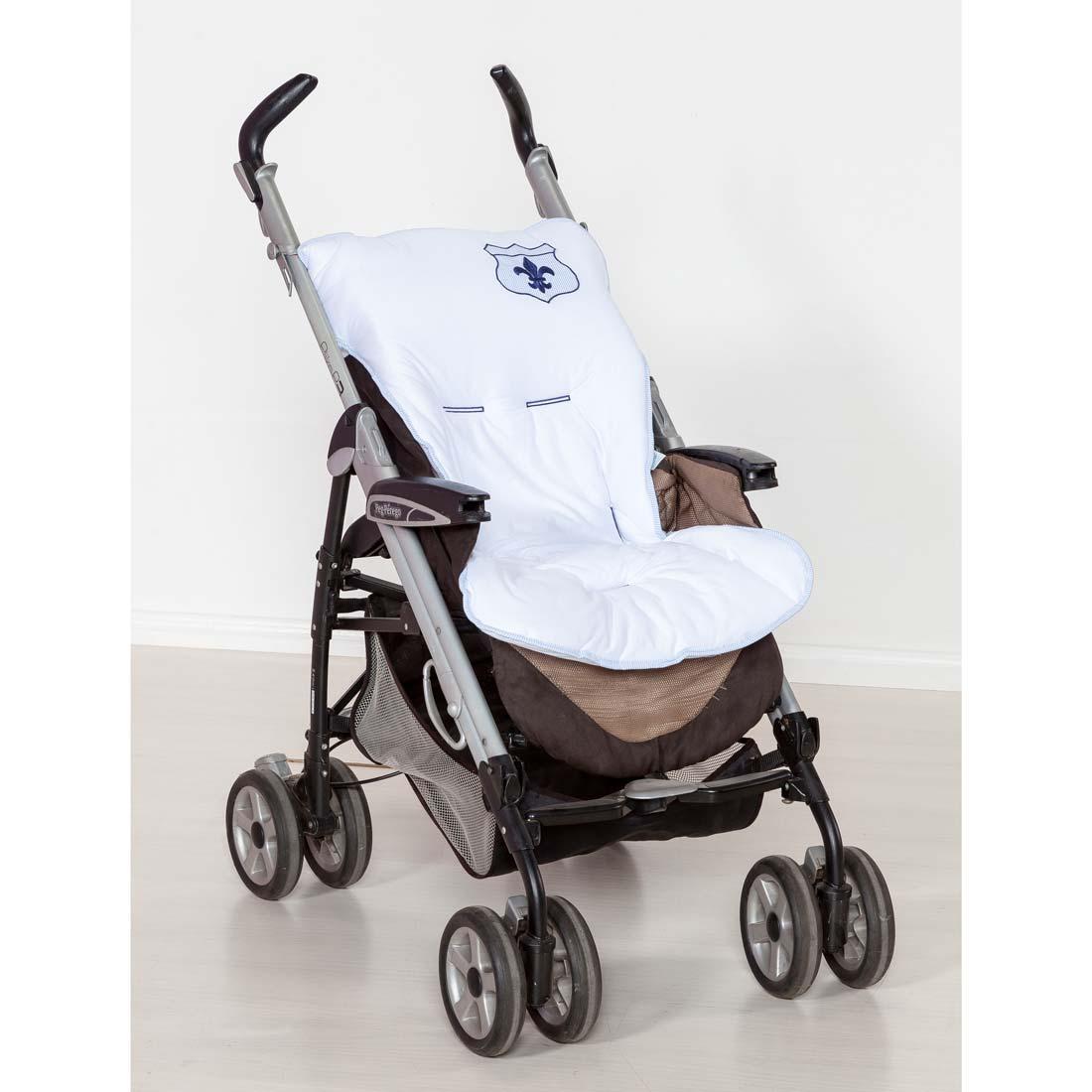 Capa de Carrinho para Bebê Coleção Versailles - Marinho