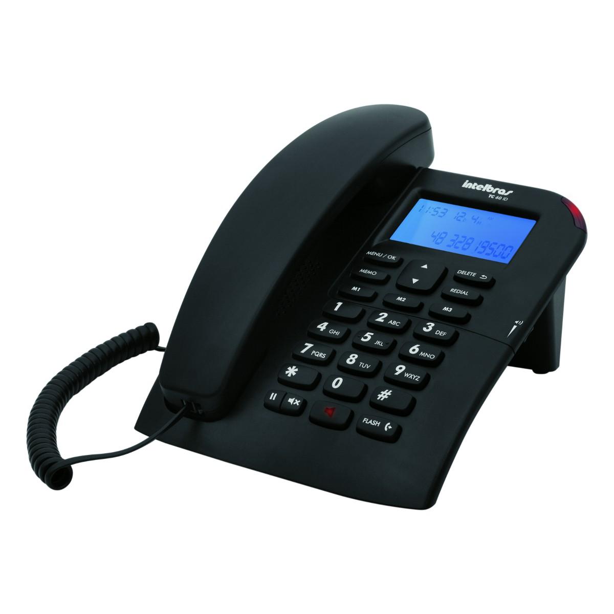 Telefone TC 60 Com ID e Viva - Voz Intelbras