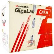 Cabo de Rede  GigaLan CAT.6  Furukawa - 305 m.Vermelho