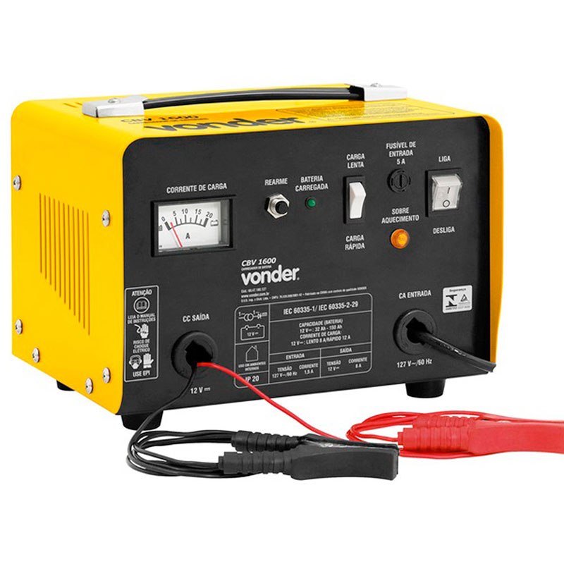 Carregador de Bateria 12V CBV 1600 - 220V.