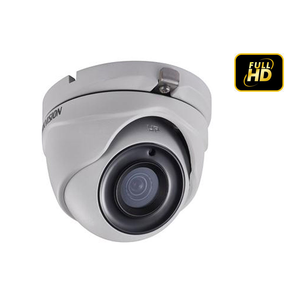 Câmera Dome HDTVI Turbo 2,0 MP 1080P Lente 2.8mm Full HD - Hikvision