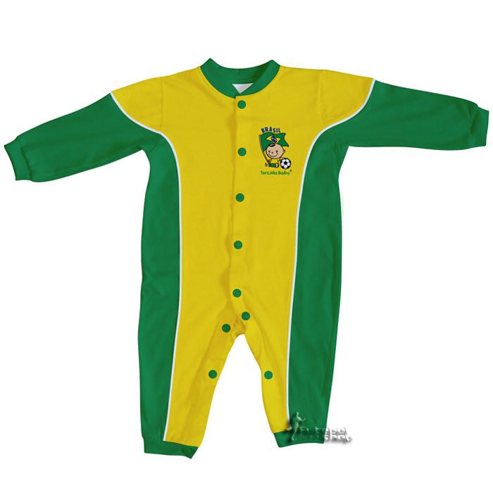 Macacão Longo Torcida Baby Brasil - 006A
