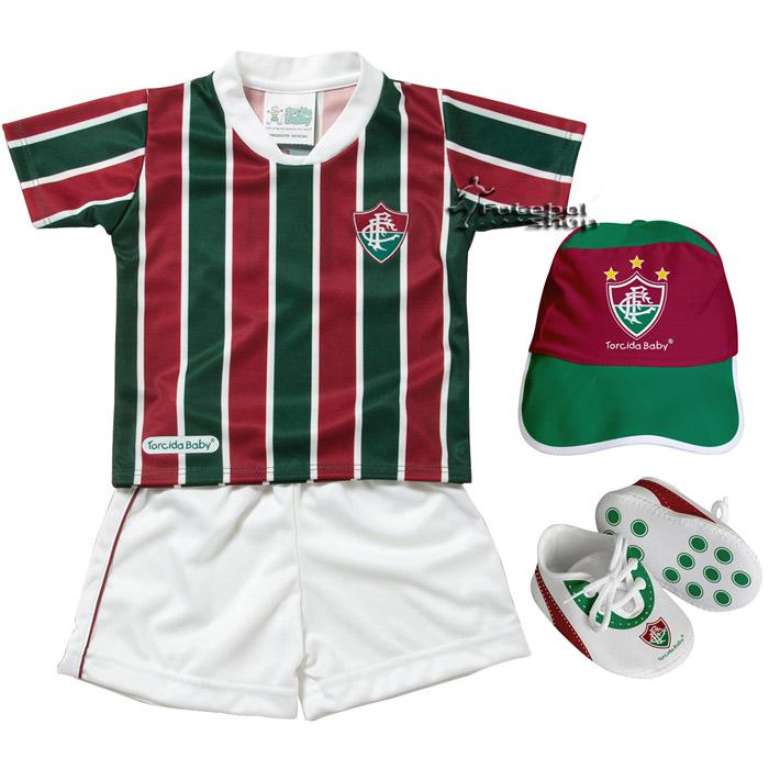 Kit 4 Peças Sublimado Torcida Baby Fluminense - 015S